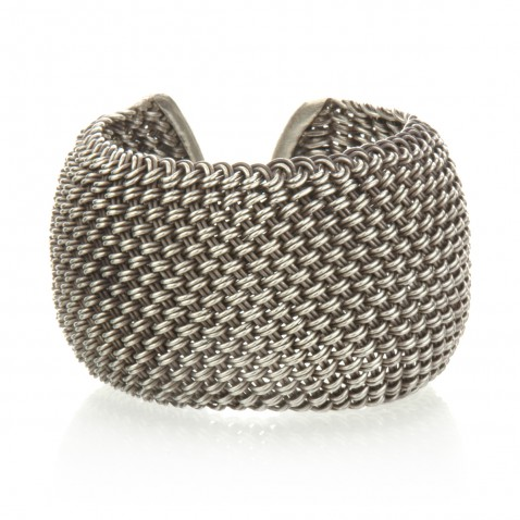 Satya cuff in silver over brass