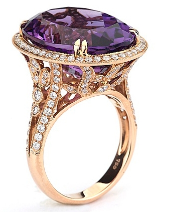 Supreme Jewelry rose gold amethyst cocktail ring