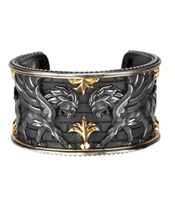 Magerit two-tone Babylon cuff