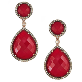 Sabrina Designs red agate drop earrings