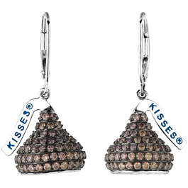 Stuller Hershey's Kisses drop earrings