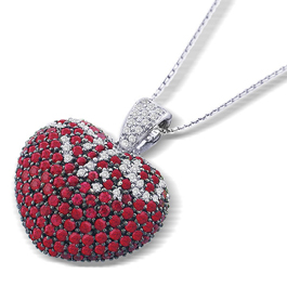 William Lam ruby heart pendant