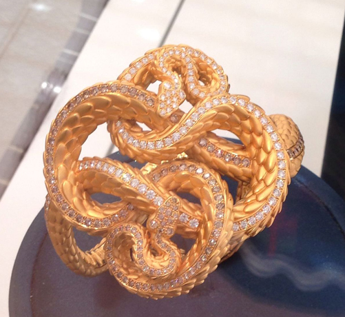 A closer look at a highly detailed snake jewel from CyC