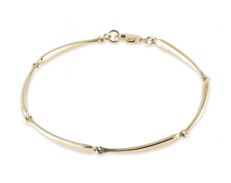 Curved Segments bracelet in 14k gold by Zina Sterling