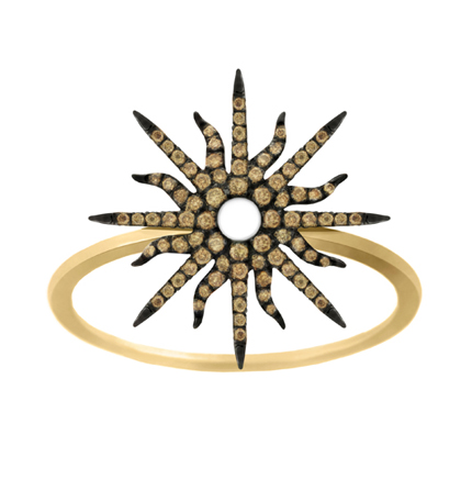 Sunshine ring in gold with diamonds by Christina Debs
