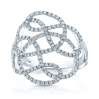 Carl K Gumpert diamond pace lace ring