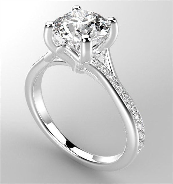 Casting House crossover diamond engagement ring