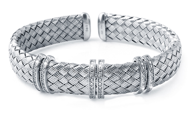 Charles Garnier Paris Paolo collection woven cuff bracelet