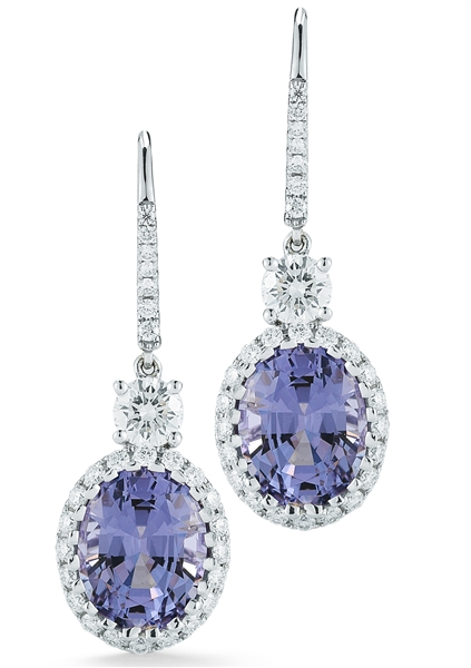 CH Hakimi violet spinel drop earrings