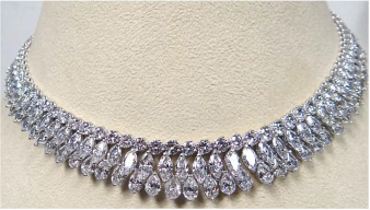 Diamond necklace from Chopard worn by Kate Walsh to the 2014 Emmys