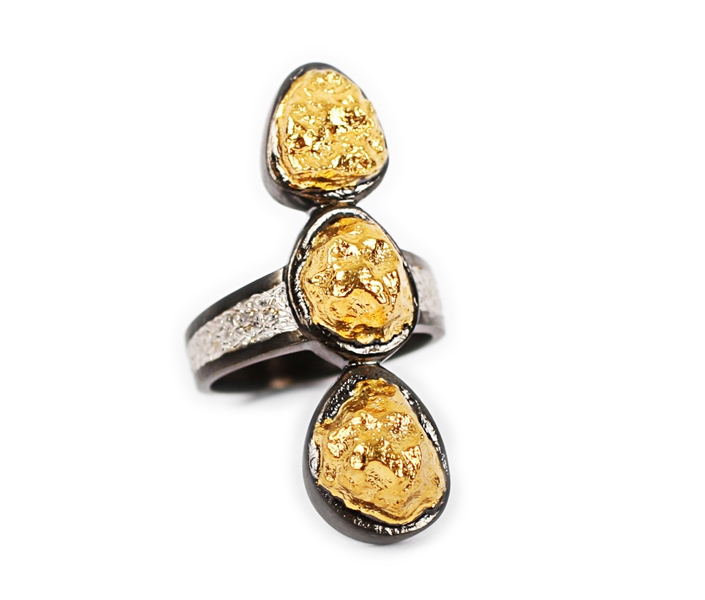 Danafisi tricolor gold station ring