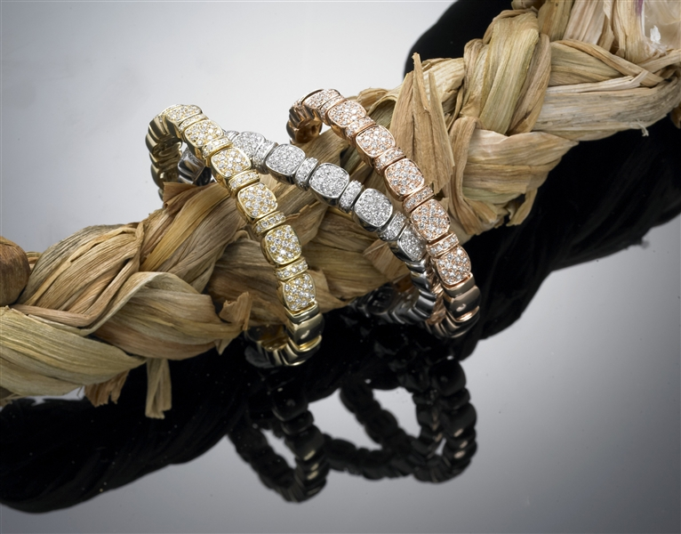 Davide Molina bangles collection diamond bracelets