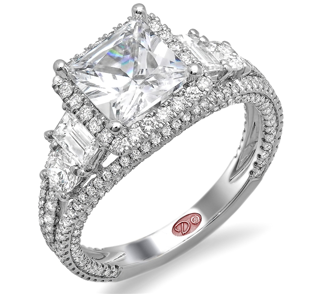 Demarco Jewelry princess-cut diamond engagement ring