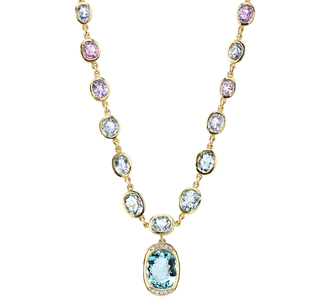 Denise James one-of-a-kind aquamarine necklace