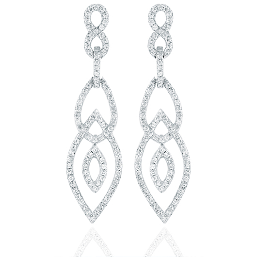 Estenza diamond earrings in 18k gold