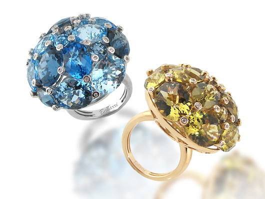 Diva gemstone rings by Bellarri