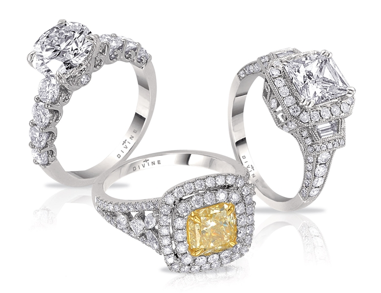 Divine diamond engagement ring collection