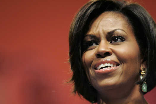 Michelle Obama in Mary Esses earrings