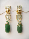 Mary Esses Quartz and Beryl Earrings in 18k gold