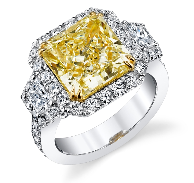 EJ Diamonds radiant diamond engagement ring