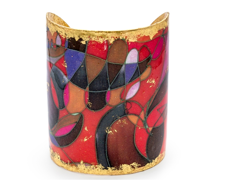 Evocateur Red Canyons cuff bracelet