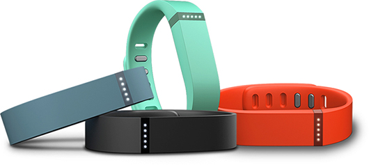 Fitbits track wearers steps and calories burned.