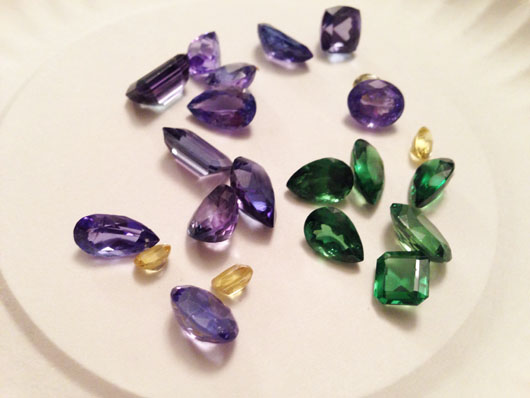 Tanzanite, tsavorite, and sapphires from African mines