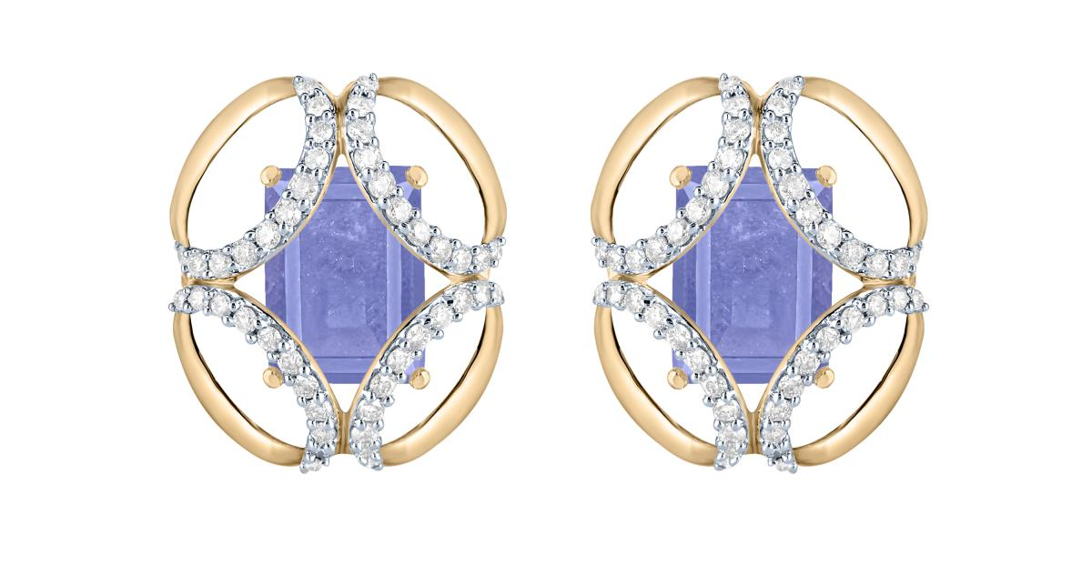 Arya Esha Galaxy collection tanzanite and diamond earrings