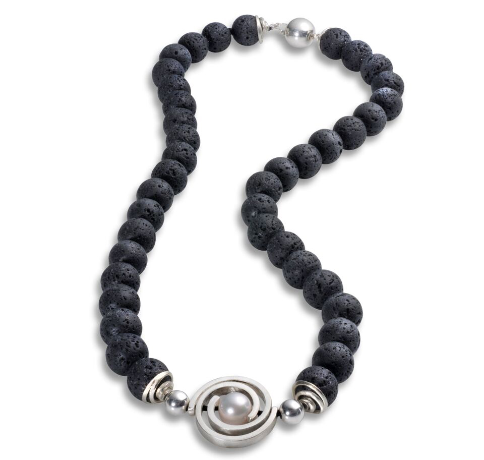 Martha Seely lava beads Inspiro necklace