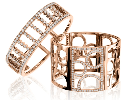 izi Creations rose gold diamond bracelets