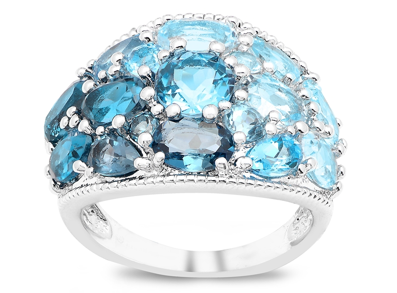 Jasco Designs multicolor blue topaz dome ring