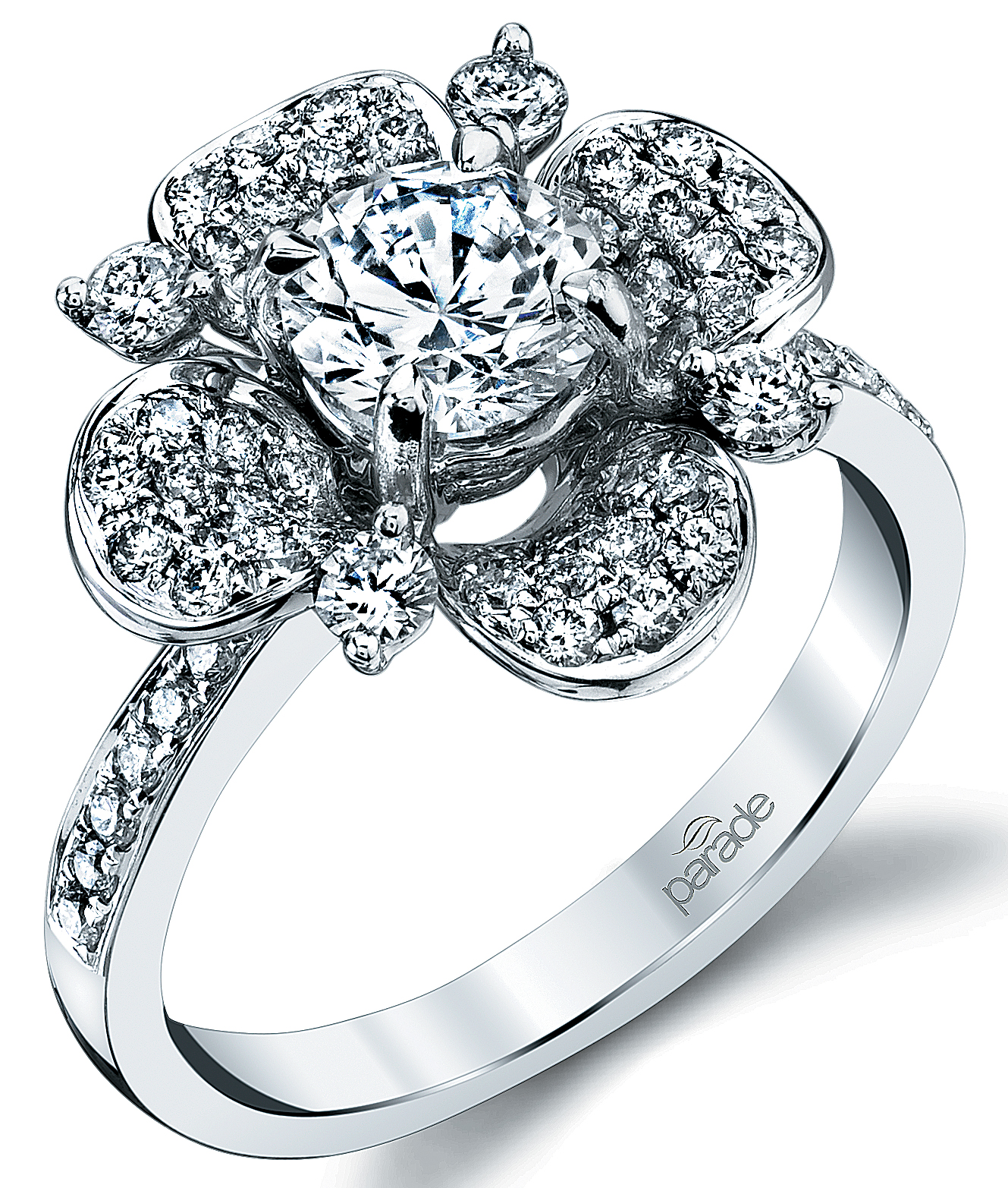 While the more unusual cuts of diamonds have been gathering momentum - Bridal May 2016 Floral Engagement Rings More