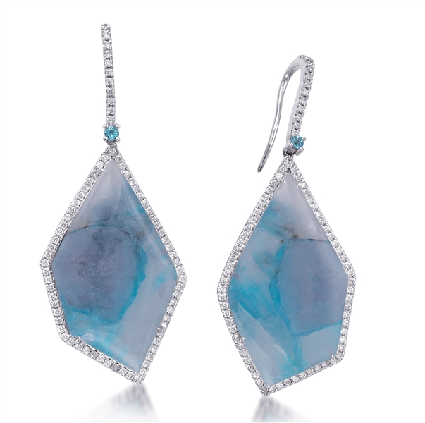 Jordan Scott Designs one-of-a-kind paraiba drop earrings