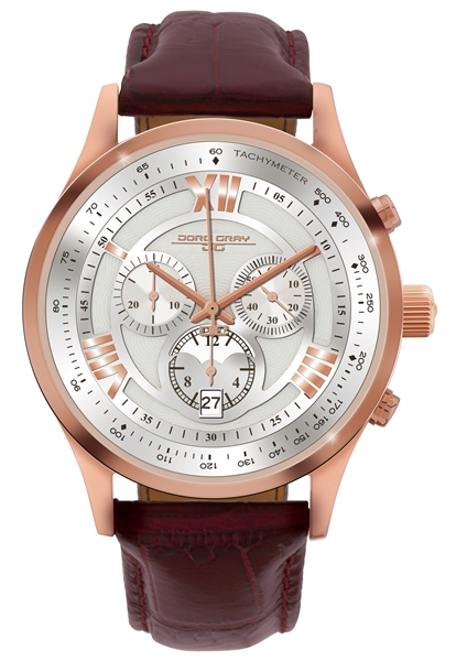 Jorg Gray TImepieces rose gold Ronda watch