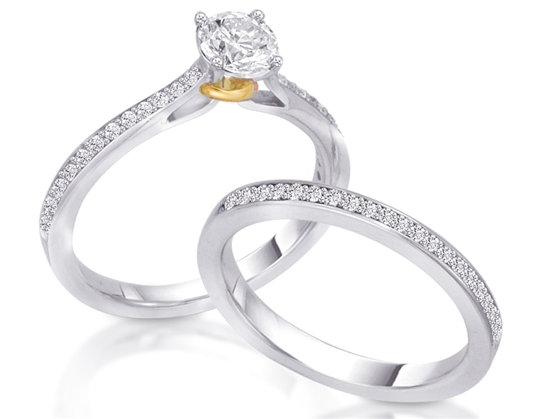 Joseph Blank Bolero collection diamond engagement ring