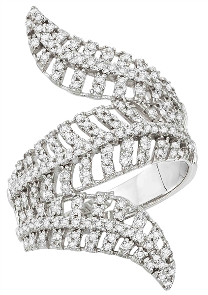KC Designs diamond feather ring