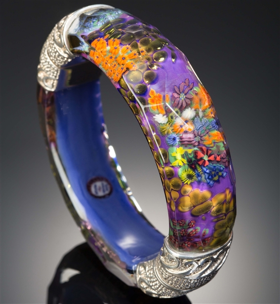 Kevin O'Grady flower garden bangle bracelet