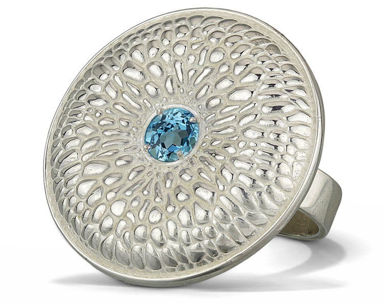 La Corza Blue Lagoon two finger ring