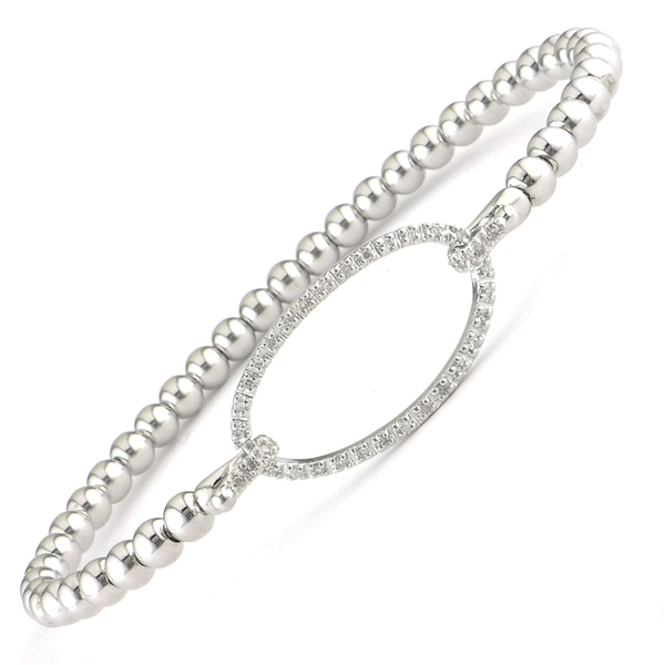Lau International diamond oval bead bangle