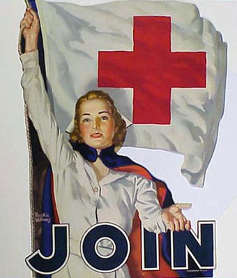 A classic Red Cross recruiting poster.