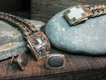 Scott Kay's new Cocoã line of sterling and bronze jewelry.
