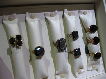 Sylva & Cie polished rough diamond rings