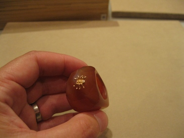 faceted carnelian ring from Anna Ruth Henriques