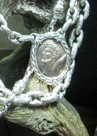 Sterling pendant of Jesus from Scott Kay.