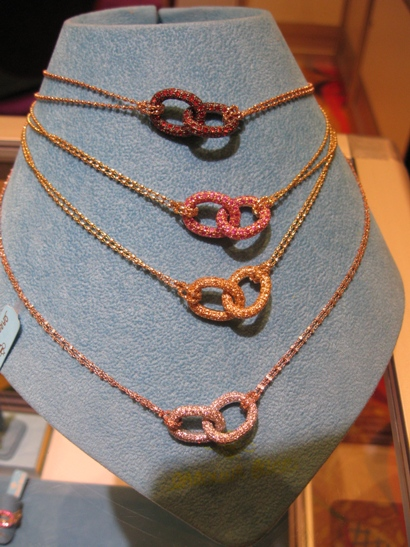 Colored stone and gold necklaces from Carolina Bucci.