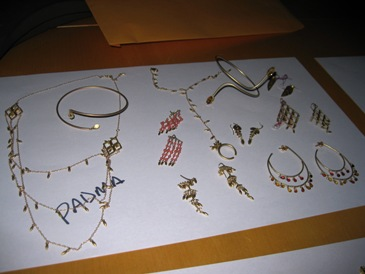 Karat gold jewelry designs from Padma Lakshmi.