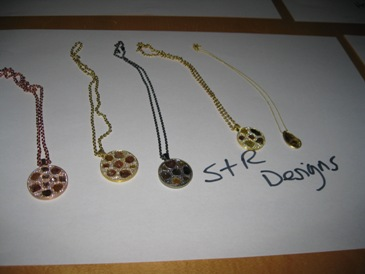 Diamond pendants from S & R Designs.