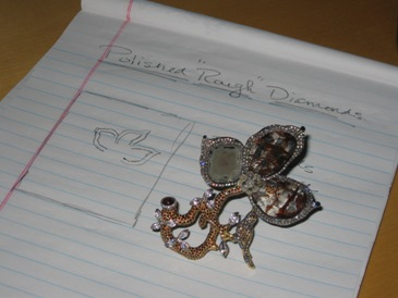 Diamond brooch from Diamonds For A Cure.