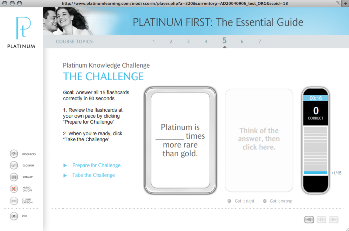 PGI USA's new online sales training tool, Platinum First, is just 30 minutes long and aims to help store owners and sales associates sell more platinum bridal jewelry.