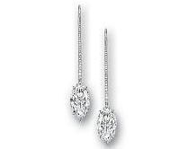 Marquise-shaped D-color flawless diamond earrings